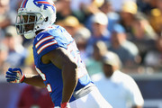 Reggie Bush #22 of the Buffalo Bills runs during the third quarter of the game against the Los Angeles Rams at the Los Angeles Memorial Coliseum on October 9, 2016 in Los Angeles, California.