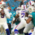 Tyrod Taylor #5 of the Buffalo Bills looks to pass during the second quarter against the Miami Dolphins at Hard Rock Stadium on December 31, 2017 in Miami Gardens, Florida.
