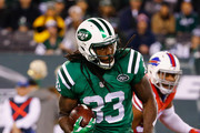 Chris Ivory #33 of the New York Jets runs against the Buffalo Bills during their game at MetLife Stadium on November 12, 2015 in East Rutherford, New Jersey.