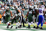 Chris Ivory #33 of the New York Jets celebrates scoring a touchdown against the Buffalo Bills in the second quarter at MetLife Stadium on October 26, 2014 in East Rutherford, New Jersey.