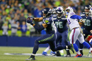 Tight end Jimmy Graham #88 of the Seattle Seahawks brings in a catch against the Buffalo Bills at CenturyLink Field on November 7, 2016 in Seattle, Washington.