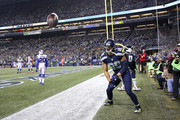 Tight end Jimmy Graham #88 of the Seattle Seahawks celebrates after scoring against the Buffalo Bills at CenturyLink Field on November 7, 2016 in Seattle, Washington.
