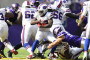 Chris Ivory #33 of the Buffalo Bills carries the ball in the fourth quarter of the game against the Minnesota Vikings at U.S. Bank Stadium on September 23, 2018 in Minneapolis, Minnesota.