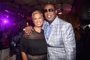 SVP of Media Sales at BET Her, Michele Thornton (L) and Master P attend the BETHer Awards, presented by Bumble, at The Conga Room at L.A. Live on June 21, 2018 in Los Angeles, California.