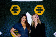 Denise Bidot (L) and  Global Brand Marketing Moxy Hotels Olivia Donnan attend BumbleSpot #atthemoxy launch at Moxy Denver Cherry Creek on November 29, 2018 in Denver, Colorado.