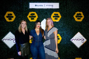 (L-R) Global Brand Marketing Moxy Hotels Olivia Donnan, Denise Bidot and  Director of Partnerships Bumble Andee Olson attend BumbleSpot #atthemoxy launch at Moxy Denver Cherry Creek on November 29, 2018 in Denver, Colorado.