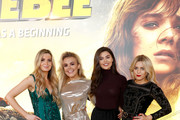 (L to R) Victoria Brown, Tallia Storm, Emily Canham and Olivia Cox attend a special screening of Paramount Pictures' film 'Bumblebee'  at Cineworld Leicester Square on December 5, 2018 in London, United Kingdom.