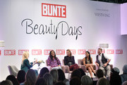 General view with Jennifer Knaeble, Barbara Becker, Norman Pohl, Fernanda Brandao and Prinzessin Lilly zu Sayn-Wittgenstein-Berleburg during the Bunte Beauty Days at Messe Muenchen on October 27, 2018 in Munich, Germany.