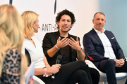 (L-R) Host Jennifer Knaeble, businesswoman Natascha Gruen, make-up artist Boris Entrup and cosmetic surgeon Dr. Markus Kloeppel attend the Bunte Beauty Days at Messe Muenchen on October 28, 2017 in Munich, Germany.