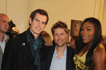 Serena Williams Andy Murray Burberry Prorsum - Backstage LFW Spring/Summer 2011