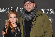 """Actors Brittany Snow (L) and Dave Bautista attend the """"Bushwick"""" premiere on day 3 of the 2017 Sundance Film Festival at Library Center Theater on January 21, 2017 in Park City, Utah."""