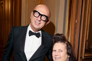 Marco Bizzarri and Suzy Menkes attend the #BoF500 gala during Paris Fashion Week Spring/Summer 2020 at Hotel de Ville on September 30, 2019 in Paris, France.