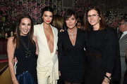 Group President, The Estee Lauder Companies Inc. Jane Hertzmark Hudis, Model Kendall Jenner, Talent Manager, Jenner Communications, Kris Jenner and Executive Producer of Project Runway, Co-Founder of DGNL Ventures, CEO, Founder and President of Full Picture Desiree Gruber attend an intimate dinner hosted by The Business of Fashion to celebrate its latest special print edition 'The Age of Influence' at Peachy's/Chinese Tuxedo on May 8, 2018 in New York City.