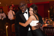 Naomi Scott and Edward Enninful attend the gala dinner in his honour, for winning of the Global VOICES Award 2019, during #BoFVOICES on November 22, 2019 in Oxfordshire, England.