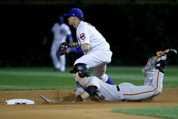Buster Posey Division Series - San Francisco Giants v Chicago Cubs - Game One