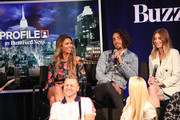 """(Back Row L-R)  Audrina Patridge, Justin Bobby Brescia, Whitney Port (Front Row L-R) Spencer Pratt and Heidi Pratt attend BuzzFeed News Presents """"The Hills"""" at PROFILE by BuzzFeed News on June 11, 2019 in New York City."""