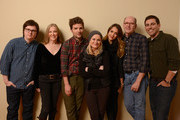 (L-R) Actors Clark Duke, Catherine O'Hara, Adam Scott, Amy Poehler, Jessica Alba and Richard Jenkins and writer/director Stu Zicherman pose for a portrait during the 2013 Sundance Film Festival at the Getty Images Portrait Studio at Village at the Lift on January 23, 2013 in Park City, Utah.