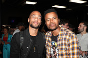 Kendrick Sampson and Marque Richardson attend CAA's BET Awards Week Kick-Off Party in Partnership with Heineken at World of Wheels on June 20, 2018 in Los Angeles, California.