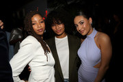 (L-R) Chloe Bailey, Yara Shahidi, and Francia Raisa attend the CAA NAACP Image Awards After Party at The Jefferson on February 22, 2020 in Los Angeles, California.