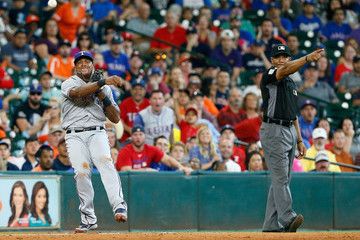 CB Bucknor Texas Rangers v Houston Astros