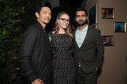 "John Cho, Emily V. Gordon and Kumail Nanjiani attend the after party for the CBS All Access new series ""The Twilight Zone"" at the Harmony Gold Preview House and Theater on March 26, 2019 in Hollywood, California."