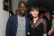 "Sterling K. Brown and Ginnifer Goodwin attend the after party for the CBS All Access new series ""The Twilight Zone"" at the Harmony Gold Preview House and Theater on March 26, 2019 in Hollywood, California."
