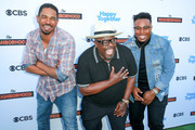 "(L-R) Damon Wayans Jr., Cedric The Entertainer and Marcel Spears attend the CBS Social Happy Hour Viewing Party for ""The Neighborhood"" And ""Happy Together"" at Estrella on October 1, 2018 in West Hollywood, California."