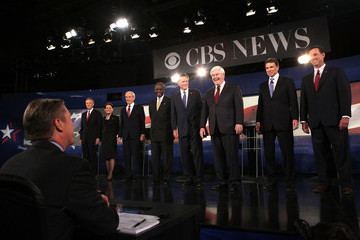 Ron Paul Michele Bachmann CBS And The National Journal Host GOP Presidential Debate In SC