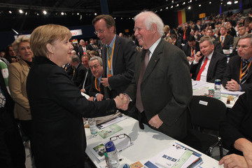 Kurt Biedenkopf CDU Holds Federal Party Congress
