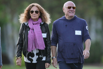 Diane Von Furstenberg Barry Diller CEO's And Corporate Executives Gather For Annual Allan And Co Gathering In Sun Valley