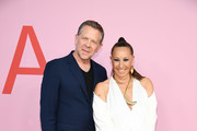 Joel Towers and Donna Karan attend the CFDA Fashion Awards at the Brooklyn Museum of Art on June 03, 2019 in New York City.