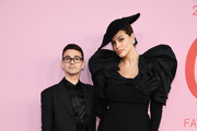 Christian Siriano and Eva Mendes attend the CFDA Fashion Awards at the Brooklyn Museum of Art on June 03, 2019 in New York City.