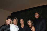 (L-R)  Jennifer Fisher, Ciara, Olivier Rousteing, Lala Anthony and Carmelo Anthony attend CFDA and Vogue 2013 Fashion Fund Finalists Celebration at Spring Studios on November 11, 2013 in New York City.