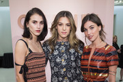 (L-R) Langley Fox, Sistine Stallone and Rainey Qualley the Chanel Ephemeral Boutique opening at Nordstrom on November 28, 2017 in Seattle, Washington.