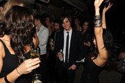 "Michael ""Jared"" Followill of the Kings Of Leon (center) attends THE CINEMA SOCIETY & D&G after party for THE TWILIGHT SAGA: NEW MOON screening  at  on November 19, 2009 in New York City."