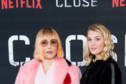 """(L-R) Noomi Rapace and Sophie Nelisse attend a special screening of """"Close"""" at The Mayfair Hotel on January 16, 2019 in London, England."""
