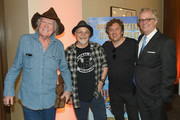 (L-R) Singer-songwriter Billy Joe Shaver, Gary Nicholson, Shawn Camp and Director and CEO of the Country Music Hall of Fame and Museum Kyle Young attend the CMHOF Outlaws and Armadillos VIP Opening Reception on May 24, 2018 in Nashville, Tennessee.