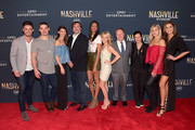 "Jackson Boyd, Kerry Degman, Rachyl Degman, Senior Vice President of Creative for CMT Anthony Barton, Alisa Fuller, Jessica Mack,  ?Senior Vice President Communications for CMT Kurt Patat, Senior Vice President of Music Strategy for CMT Leslie Fram, Sarah Thomas and Alexandra Harper attend CMT's ""Nashville"" In Concert Final Season Celebration at Grand Ole Opry House on March 25, 2018 in Nashville, Tennessee."