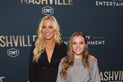 "Actors Lennon Stella and Maisy Stella attend CMT's ""Nashville"" In Concert Final Season Celebration at Grand Ole Opry House on March 25, 2018 in Nashville, Tennessee."