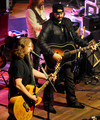 Singers & Songwriters Jamey Johnson and Randy Houser perform during the CMT Tour at the Wildhorse Saloon on December 8, 2009 in Nashville, Tennessee.