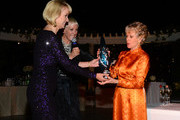 Tippi Hedren receives the 2013 Legacy of Style Award from Lynelle Lynch at The Peninsula Hotel on September 23, 2013 in Beverly Hills, California.