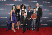 (L-R) Christina Li, Kelly Ripa, Halie Thomas, Ryan Hickman, Sidney Keys III,  Campbell Remess, and Anderson Cooper attend CNN Heroes 2017 at the American Museum of Natural History on December 17, 2017 in New York City. 27437_017