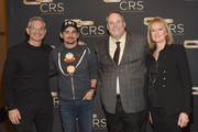 (L-R) RJ Curtis Vice President VP Country, Nashville Editor & All Access Music Group, artist Brad Paisley, Country Radio Broadcasters, Inc. Executive Director Bill Mayne and Beverlee Brannigan Secretary Operations Manager of E.W. Scripps take photos during day 2 of CRS 2018 on February 6, 2018 in Nashville, Tennessee.