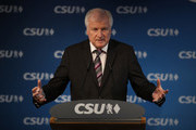 Horst Seehofer, Chairman of the Christian Social Union (CSU), and Markus Soeder (not pictured), Governor of Bavaria and lead candidate of the CSU in yesterday's Bavarian state elections, speak to the media follwoing a meeting of the CSU leadership at party headquarters on October 15, 2018 in Munich, Germany. The CSU faired poorly in the election, winning 37.2% of the vote, 10.5 votes fewer than in the last election. The CSU has long been Bavaria's strongest party but will now face the arduous task of forming a state government coalition.