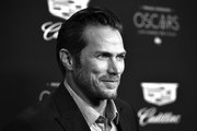 (Editor's Note: Image digitally converted to black and white.) Jason Lewis attends Cadillac Celebrates The 92nd Annual Academy Awards at Chateau Marmont on February 06, 2020 in Los Angeles, California.