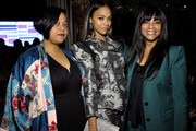 (L-R) Marielle Saldana, Zoe Saldana, and Cicely Saldana attend the Cadillac Oscar Week Celebration at Chateau Marmont on February 6, 2020 in Los Angeles, California.