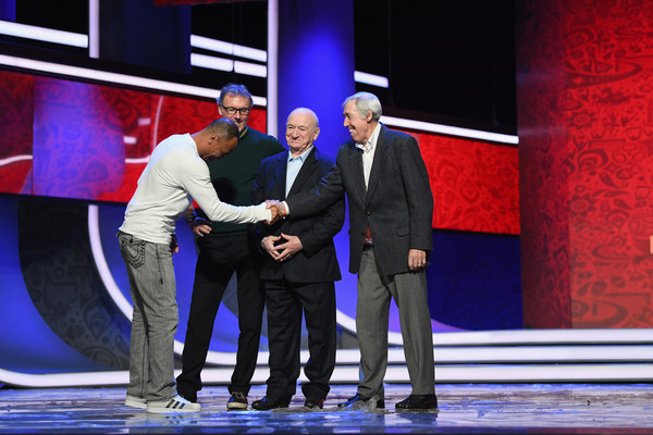 Final Draw for the 2018 FIFA World Cup Russia - Previews [event,performance,fashion,stage,performing arts,formal wear,television program,cafu,draw,stage,russia,brazil,england,gordon banks,kremlin,2018 fifa world cup,rehearsal]