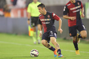 Andrea Cossu of Cagliari in  action  during the Serie A match between Cagliari Calcio and AC Milan at Stadio Sant'Elia on October 29, 2014 in Cagliari, Italy.