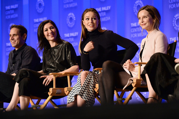 The Paley Center For Media's 33rd Annual PaleyFest Los Angeles - 'Supergirl' - Inside [supergirl,event,youth,convention,performance,talent show,conversation,fun,academic conference,adaptation,team,actors,executive producers,melissa benoist,ali adler,greg berlanti,l-r,los angeles,paley center for media,paleyfest]
