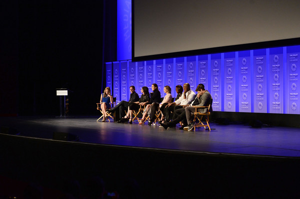 The Paley Center For Media's 33rd Annual PaleyFest Los Angeles - 'Supergirl' - Inside [supergirl,entertainment,performance,performing arts,event,stage,dance,performance art,auditorium,theatre,choreography,leanne aguilera,actors,executive producers,melissa benoist,calista flockhart,l-r,los angeles,paleyfest,paley center for media]